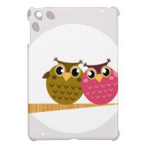 Cute owls on tree Original art Illustration iPad Mini Covers