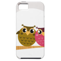 Cute owls on tree Original art Illustration iPhone SE/5/5s Case