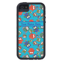 Cute Owls on Turquoise Blue Background iPhone SE/5/5s Case