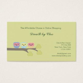 Cute Owls Online Shop Etsy Fashion Business Cards