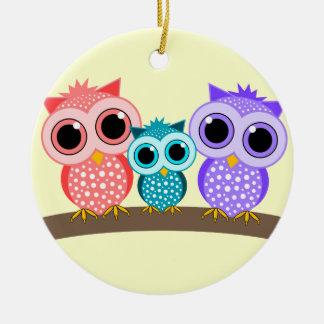 cute owls christmas ornament