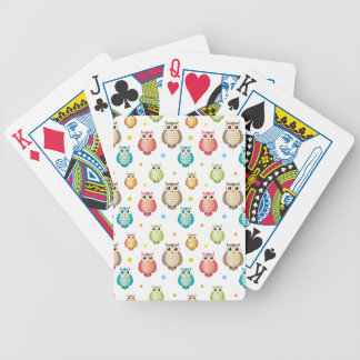 Cute Owls Pattern Bicycle Card Deck