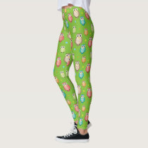 Cute Owls Pattern Leggings