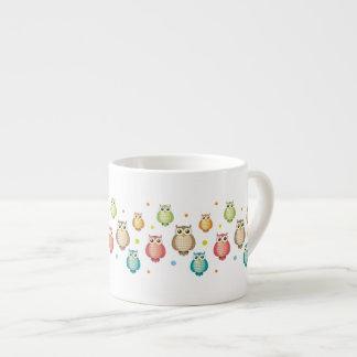 Cute Owls Pattern Mug Espresso Mug