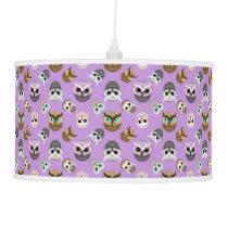 Cute Owls Pattern on Purple Background Pendant Lamp