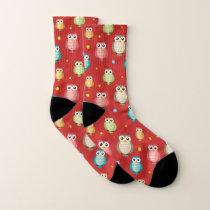 Cute Owls Pattern Socks