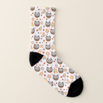 Cute Owls Pattern Socks