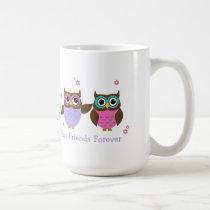 Cute Owls Personalized Best Friends Mug