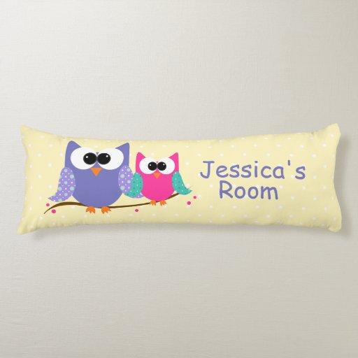 Cute Owls Personalized Kid s Body Pillow Zazzle