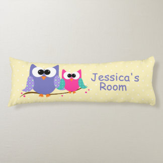 Cute Owls Personalized Kid's Body Pillow