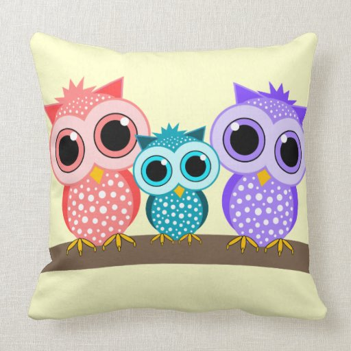 How To Make Cute Owl Pillows : cute owls pillows Zazzle