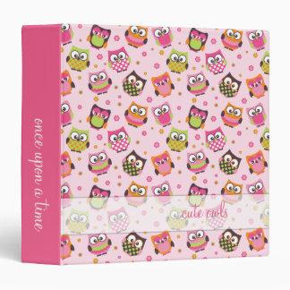 Cute Owls Pink Memories Binder