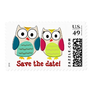 Cute Owls Postage