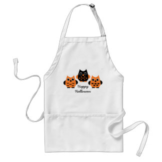 Cute Owls say BOO! Adult Apron