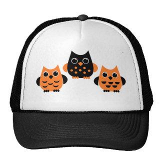 Cute Owls say BOO! Hats