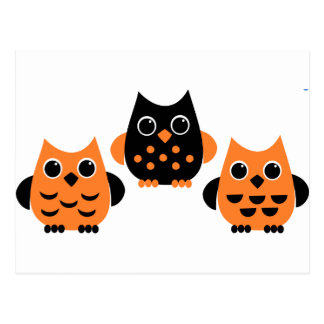 Cute Owls say BOO! Postcards