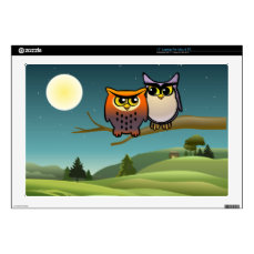 Cute Owls Skins For Laptops
