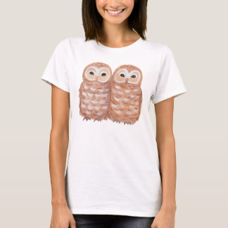 Cute Owls T-shirt Happy Snuggle Owls Graphic Tee