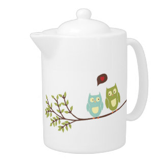 Cute Owls Teapot