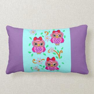 cute owls throw pillow