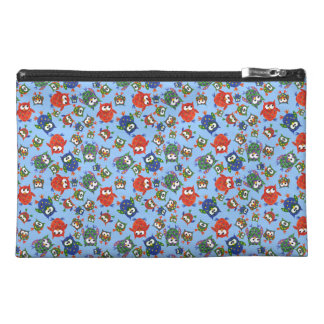Cute Owls Travel Accessories Bag, Red, Blue, Green Travel Accessories Bag