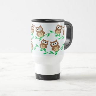 Cute owls travel mug