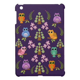 Cute owls, trees & flowers cover for the iPad mini