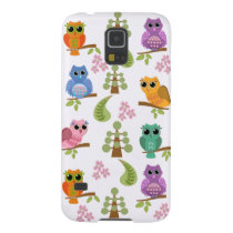 Cute owls, trees & flowers galaxy s5 case