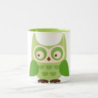Cute Owls Two-Tone Coffee Mug