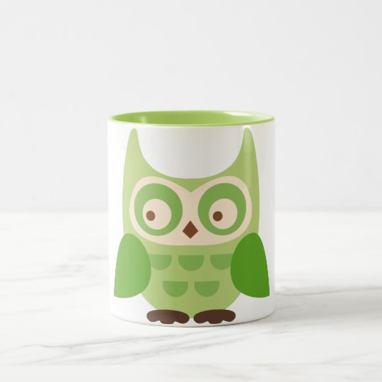 Cute Owls Two-Tone Coffee Mug