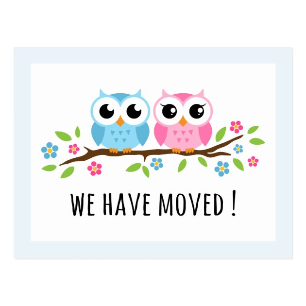 cute owls we have moved change of address moving postcard zazzle owl clip art images owl clip art black and white