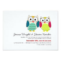 Cute Owls Wedding Invitation