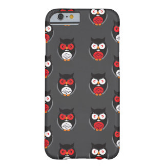 Cute owls with red, white eyes Halloween Barely There iPhone 6 Case