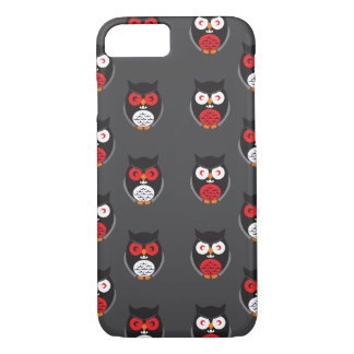 Cute owls with red, white eyes Halloween iPhone 7 Case