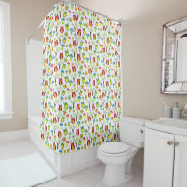 Cute Owls with Trees and Toadstools Shower Curtain