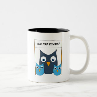"Cute Owls - ""World's best Dad!"" - Father's Day Mugs"