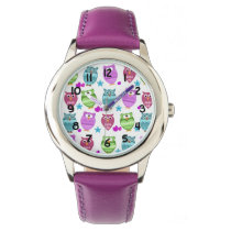 cute owls wristwatch