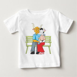 Cute Ox Cow Lovers Holding Hands T Shirt
