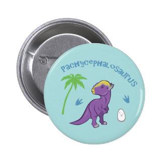 Cute Pachycephalosaurus 2 Inch Round Button