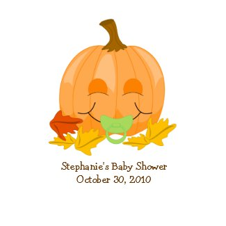Cute Pacifier Pumpkin Baby Shower Favor Sticker sticker