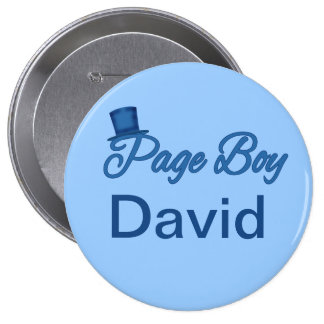 Cute Page Boy Tshirt to Customize Button