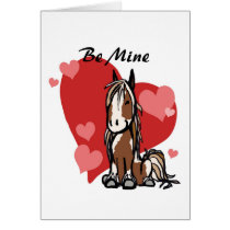 Cute Paint Horse Valentine's Day Card