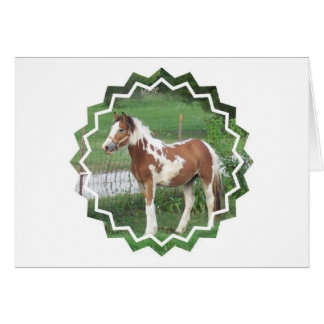 Cute Paint Pony Greeting Card