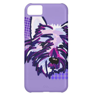 Cute Painted Dog iPhone 5C Cases