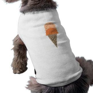 Cute Painted Orange Ice Cream Cone Puppy Shirt