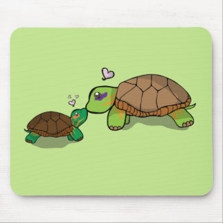Cute Painted Turtle Family - Mousepad