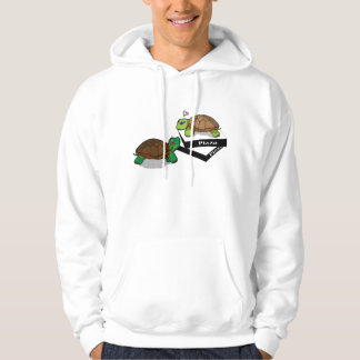 Cute Painted Turtle Hooded Pullover
