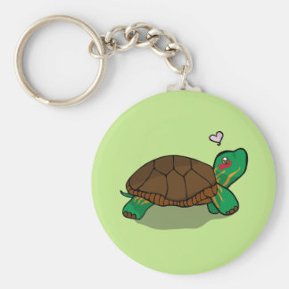 Cute Painted Turtle - Pin Keychain