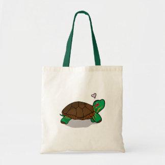 Cute Painted Turtle - Tote Bag
