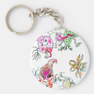 Cute Painted Viruses Keychain
